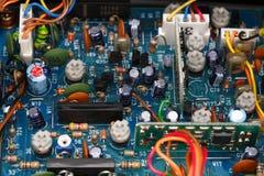 Panneau électronique d'émetteur récepteur Images stock