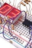 Panneau électronique de prototypage Images libres de droits