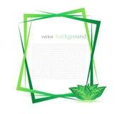 Panneau abstrait vert de Web d'Eco Image stock