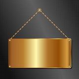 Panneau d'or Photographie stock libre de droits