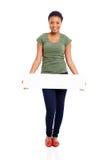 Panneau africain de blanc de femme photographie stock