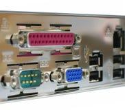 Panneau arrière d'ordinateur Photo libre de droits