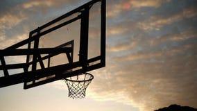 Panneau arrière de basket-ball à l'université de SCH photo libre de droits