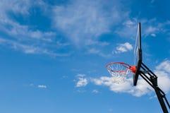 Panneau arrière de cercle de basket-ball Photographie stock libre de droits