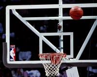 Panneau arrière en verre de NBA Photographie stock