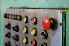 Panneau avec des boutons Photos libres de droits