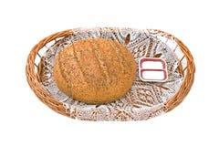 Panneau avec du pain et le sel Photos stock