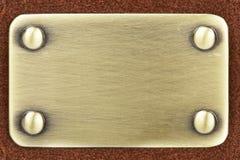 panneau balayé en métal photos libres de droits