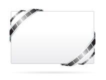 Panneau blanc avec la trame de film de film Image stock