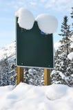 Panneau blanc vert de signe Photo libre de droits