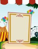 Panneau blanc vertical de thème de carnaval Image stock