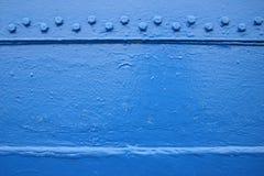 Panneau bleu Photo stock