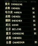 Panneau chinois d'arrivée Photographie stock libre de droits