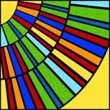 Panneau circulaire coloré de fenêtre en verre teinté Image stock