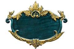 Panneau classique en métal Photo stock
