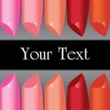 Panneau coloré de label de rouge à lèvres de vecteur Photo libre de droits