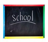 Panneau d'école noir Photos libres de droits