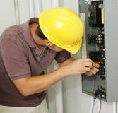 Panneau d'électricien et de rupteur photo stock