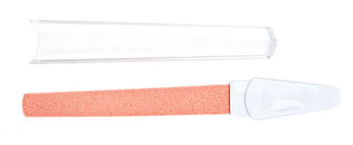 Panneau d'émeri en plastique rouge de clou Image libre de droits