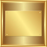 Panneau d'or Photo stock