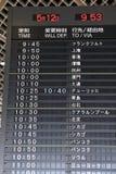 Panneau d'aéroport Image libre de droits