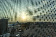 Panneau d'aéroport de Schiphol Image libre de droits