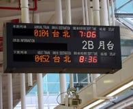 Panneau d'affichage électronique de station de train Image stock