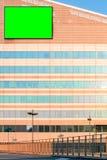 Panneau d'affichage avec la clé de chroma photos libres de droits