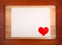 Panneau d'affichage avec la forme de coeur Photos libres de droits