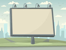 Panneau d'affichage avec le fond de ville Image stock