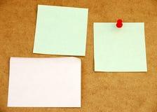 Panneau d'affichage avec le post-it note#4 Photographie stock libre de droits