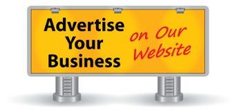 Panneau d'affichage avec le texte et les projecteurs Image libre de droits