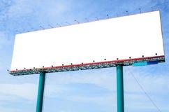 Panneau d'affichage blanc de blak Images stock