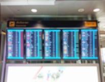 Panneau d'affichage brouillé de l'information de vol Photos libres de droits