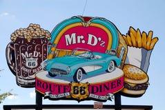 Panneau d'affichage classique de wagon-restaurant dans Kingman, Arizona photos stock