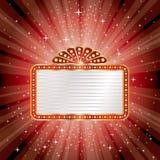 Panneau d'affichage d'éclat de rouge Images libres de droits
