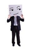 Panneau d'affichage d'expression de sourire de participation d'homme d'affaires image libre de droits