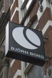 Panneau d'affichage de Bjorn Borg Store At Amsterdam le 2018 néerlandais image stock