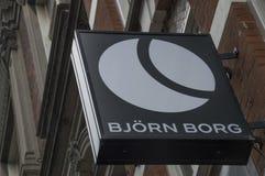 Panneau d'affichage de Bjorn Borg Store At Amsterdam le 2018 néerlandais photographie stock libre de droits