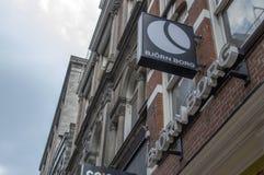 Panneau d'affichage de Bjorn Borg Store At Amsterdam le 2018 néerlandais image libre de droits