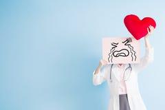 Panneau d'affichage de cri de prise de docteur Image stock