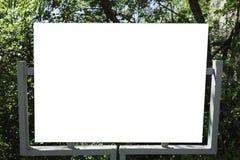 Panneau d'affichage de fer dans la forêt Photo stock