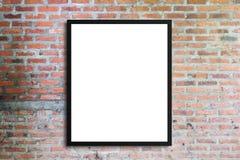 Panneau d'affichage de publicité ou télévision vide de large écran avec vieux v Images stock