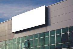 Panneau d'affichage de publicité vide de société comme espace de copie Images libres de droits