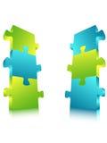 Panneau d'affichage de puzzle Images stock