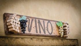 Panneau d'affichage de vin Photos libres de droits