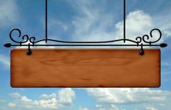 Panneau d'affichage en bois Image libre de droits