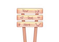 Panneau d'affichage en bois de vecteur Image libre de droits