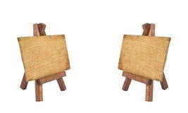 Panneau d'affichage en bois deux photo libre de droits