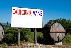 Panneau d'affichage en ventes de vin de Californie photographie stock